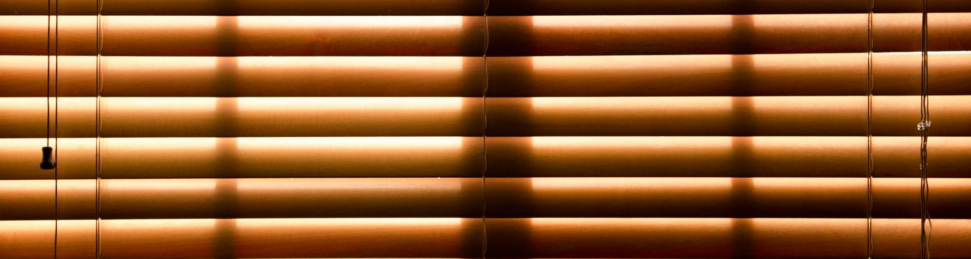 Rollos uns Plissee aus Bambusholz