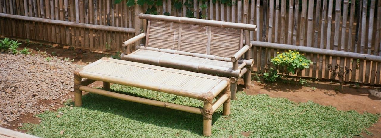 Gartenbank aus Bambus-Teaserbild